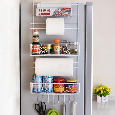 厨房置物架冰箱挂架多功能冰箱侧壁挂架挂件侧边侧面收纳架调料架