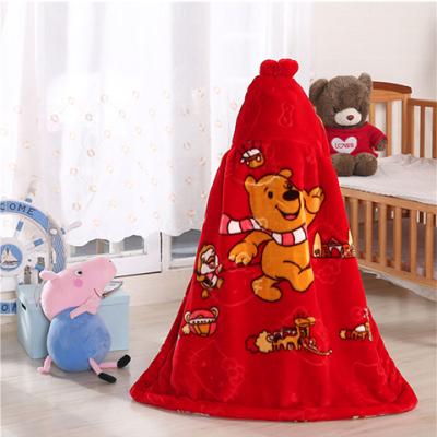 【双层加厚】婴儿毛毯披风斗篷儿童毛毯空调毯子盖毯云毯披风斗篷