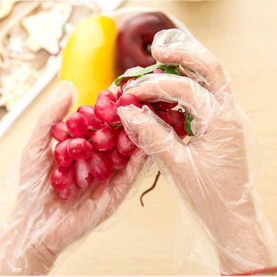 400只装一次性手套 全新料餐饮食品级一次性手套 pe薄膜塑料美容手套膜透明牢固手套