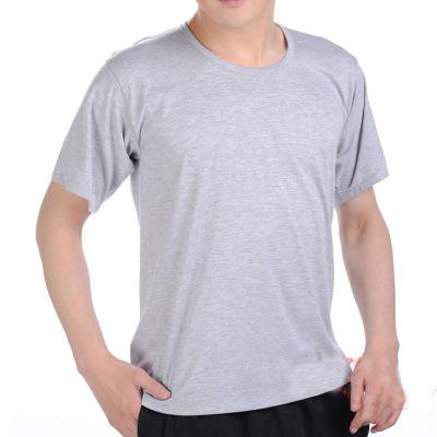 【2件装/单件装】夏中老年纯棉老头衫宽松圆领短袖T恤大码男汗衫