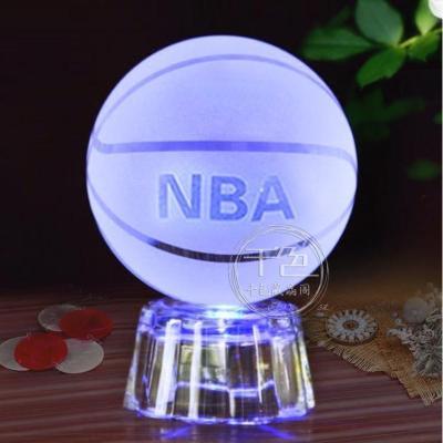 水晶篮球足球地球送老师男友女友老公同学生日毕业情人节礼物摆件