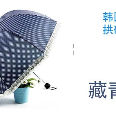 拱形伞女雨伞天堂晴雨伞天堂雨伞三折伞折叠雨伞公主伞女伞