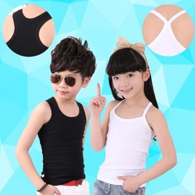 【2件装】儿童纯棉背心夏季薄款Y字中大童发育内衣贴身百搭打底衫