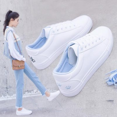 2019春秋季新款百搭小白鞋女学生平底女鞋韩版板鞋休闲白鞋子