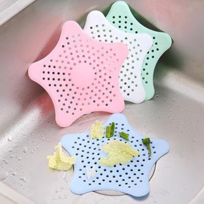 【3-5个装】海星硅胶过滤网厨房水池地漏盖子浴室卫生间防堵塞