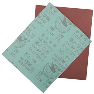 100张耐水砂纸琥珀菩提子抛光文玩砂纸耐水砂纸150180240280320360500600目