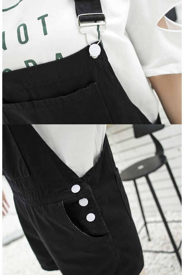 【牛仔背带短裤】韩版减龄牛仔背带裤女宽松2019夏新款纯色牛仔短裤潮
