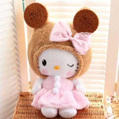 毛绒玩具hellokitty凯蒂猫饼干公仔娃娃kt猫情人节送女生儿童礼物